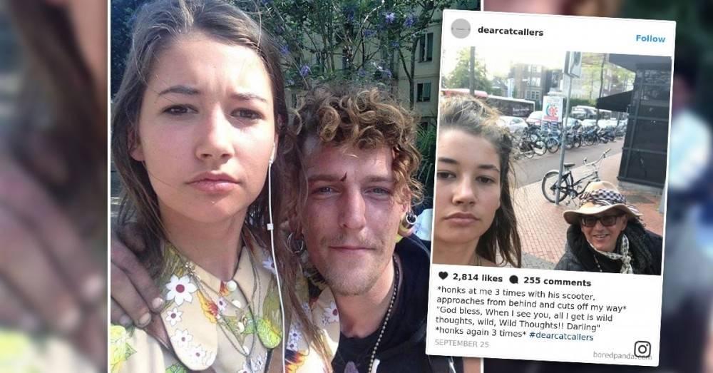 Las selfies que esta joven se tomó con sus acosadores callejeros se volvieron..