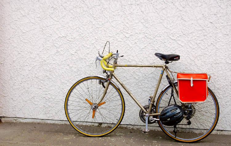 Bicicleta con alforja