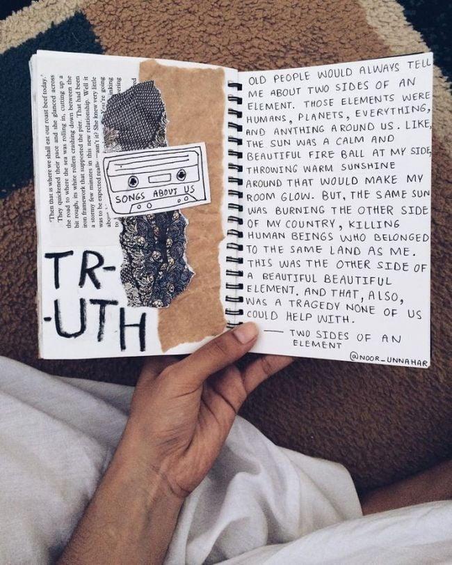 escribir pensamientos