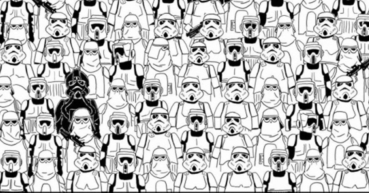 Panda galáctico: descubre al oso escondido entre la multitud de stormtroopers