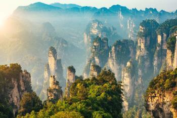 Paisjae en China. Montalñas