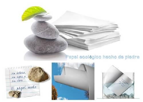 Un nuevo Papel ecológico hecho de piedra