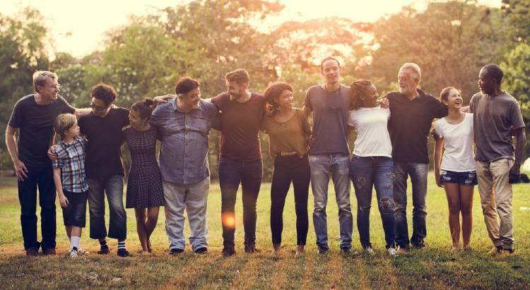 Gente unida de todo el mundo