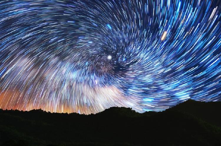 cielo estrellas galaxias