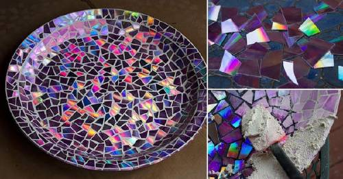 Cómo hacer un plato de mosaicos con CDs en 5 pasos