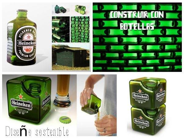 Botellas que son ladrillos: diseño sostenible