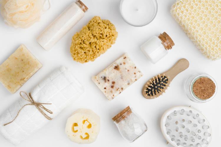 Diversos productos de belleza