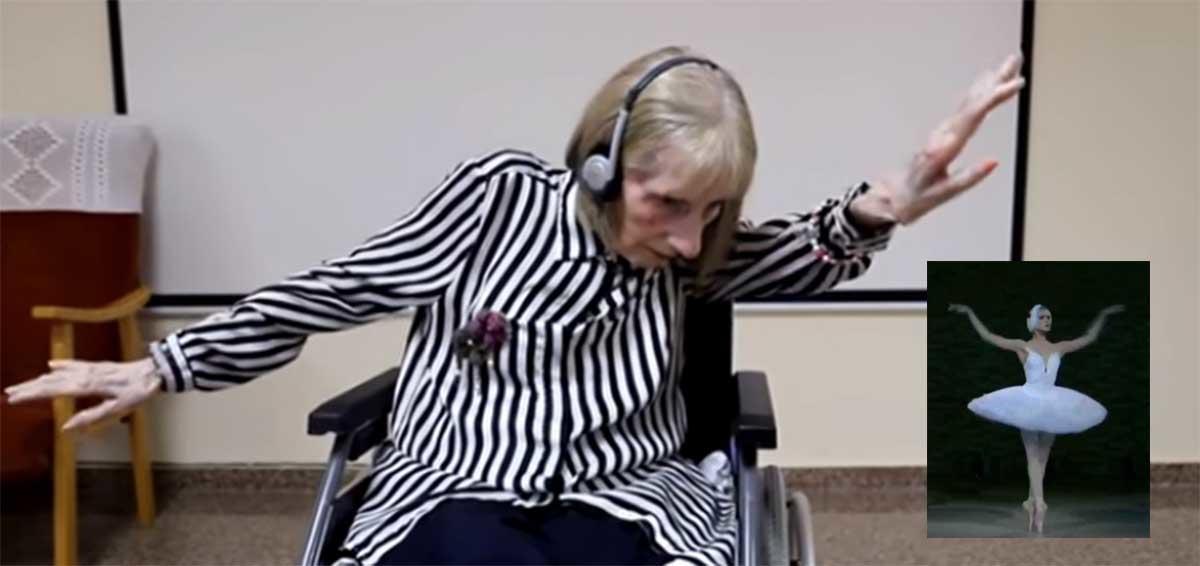 Ex bailarina con Alzheimer escucha El Lago de los Cisnes y comienza a bailar de