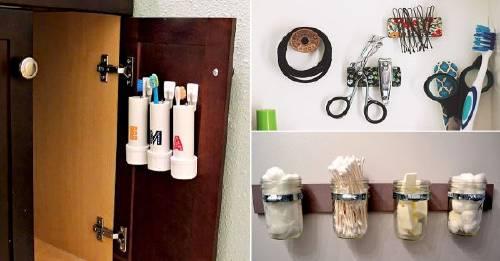 11 ideas para aprovechar el espacio en baños pequeños