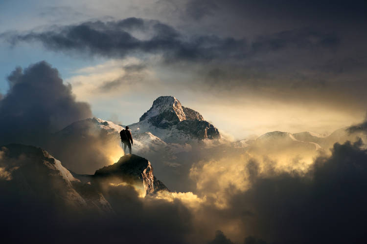 escalar montaña cima