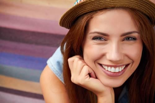 mujer sonrisa