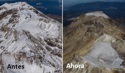 """El glaciar Ayoloco de México es declarado oficialmente """"extinto"""""""