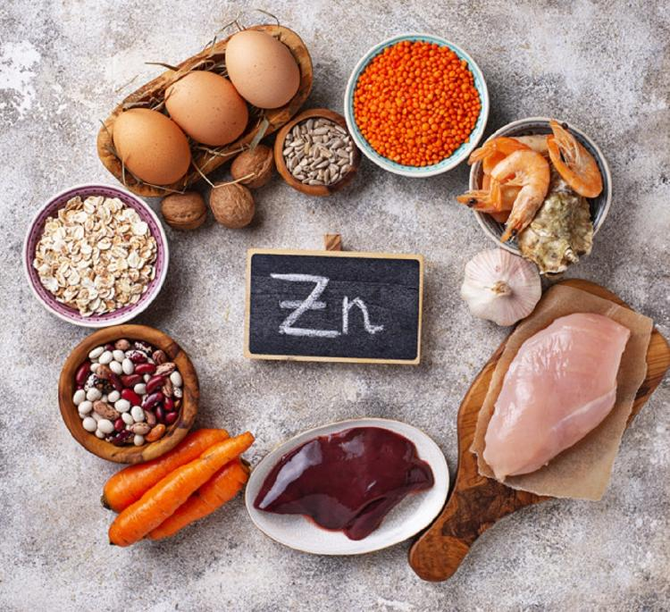 zinc dentro de alimentos