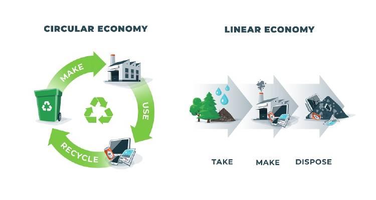 infografia economia circular y lineal.