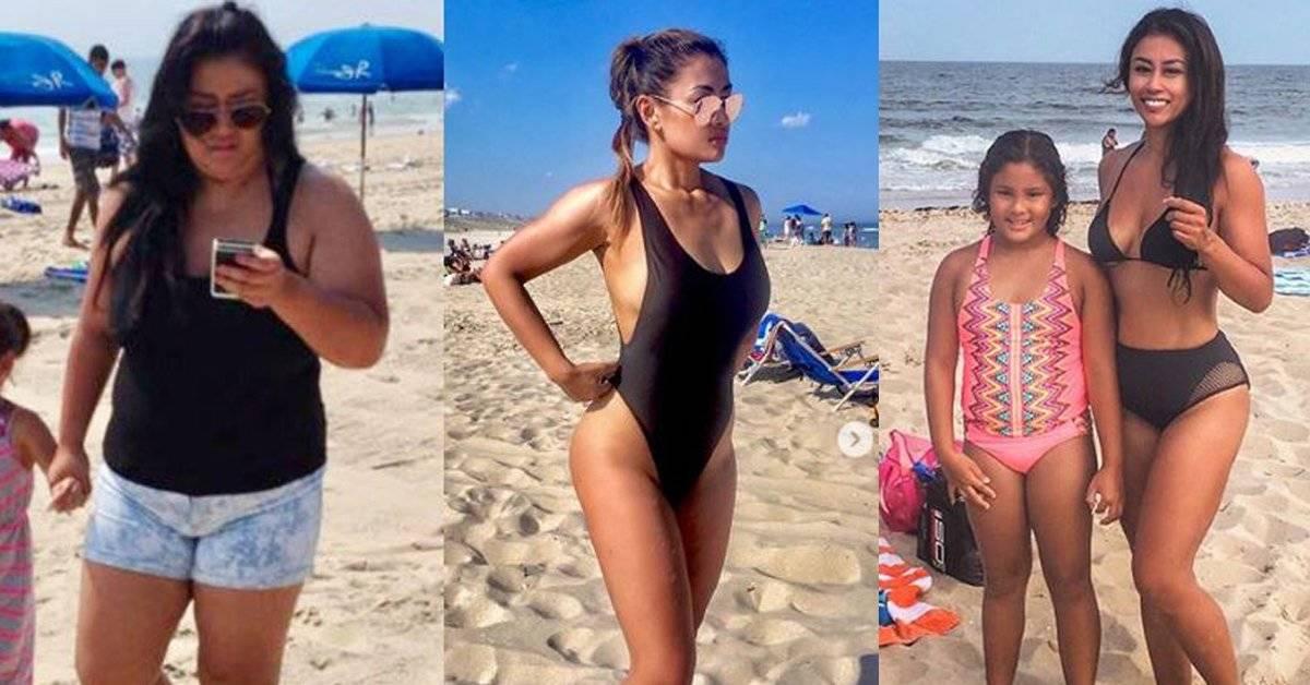 """Así perdió 50 kilos en 1 año porque se sentía """"demasiado pesada"""" para jugar con su hija"""