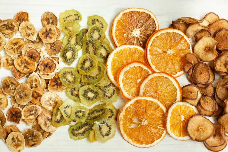 drutas y verduras deshidratadas