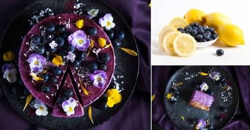 Cheesecake de arándanos y limón sin cocción