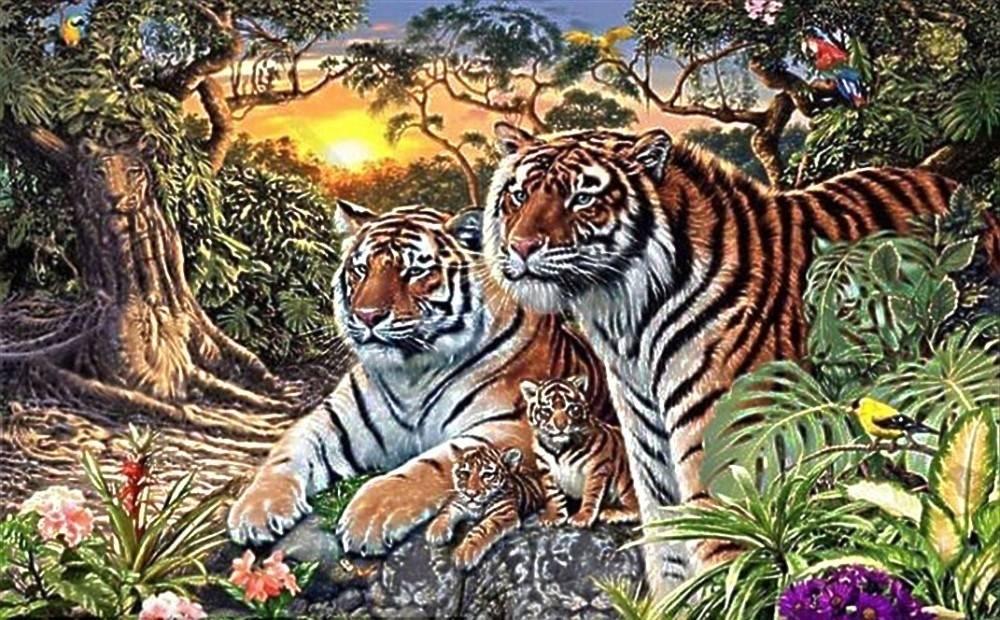 El desafío de la selva: ¿Puedes encontrar 16 tigres en esta imagen?