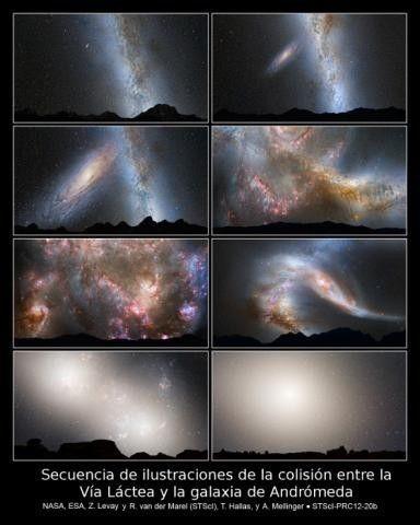 fin galaxia vía lactea