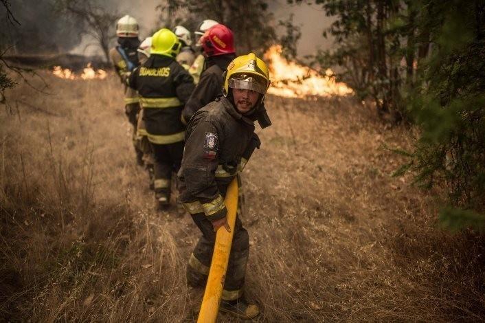 bomberos en chile