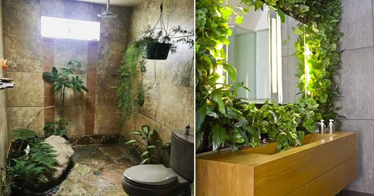 Cómo diseñar un jardín en el baño? ¡8 ideas fabulosas!