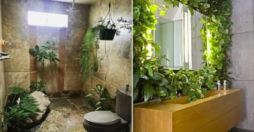 ¿Cómo diseñar un jardín en el baño? ¡8 ideas fabulosas!