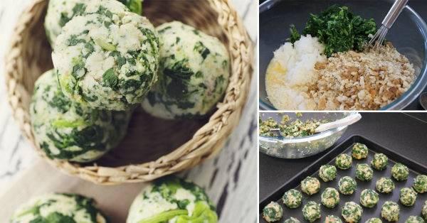 Cómo preparar deliciosas bolitas de espinaca