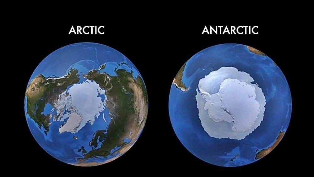 hielo marítimo ártico y antártico