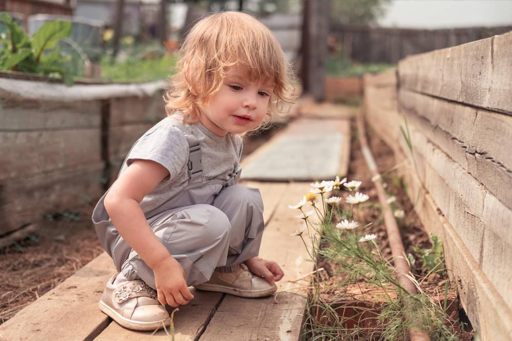 Un niño descubrió algo hermoso y poco común en su patio