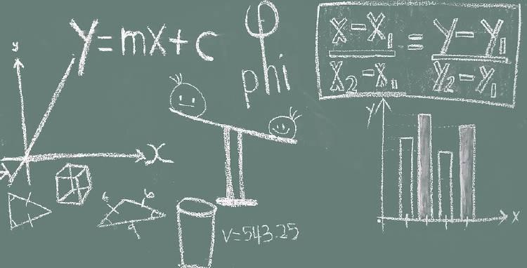 pizarra con formulas matemáticas