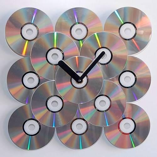 20 ideas brillantes para decorar con CDs reutilizados