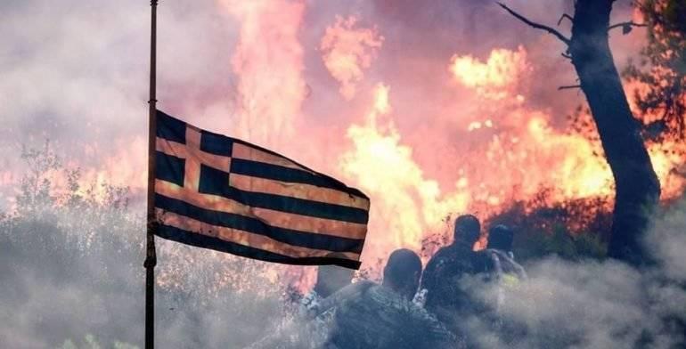 Incendios forestales azotan Grecia