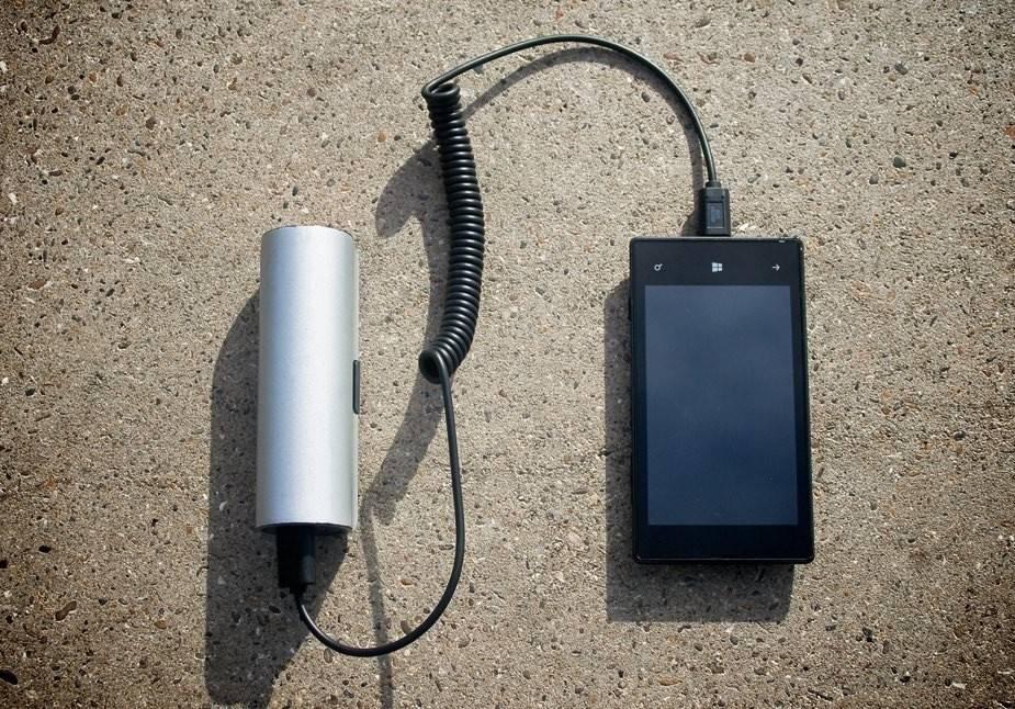 Un cargador solar portatil