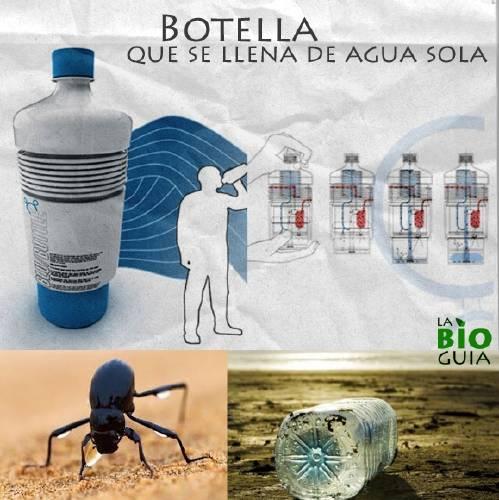 Botella que se llena de agua sola