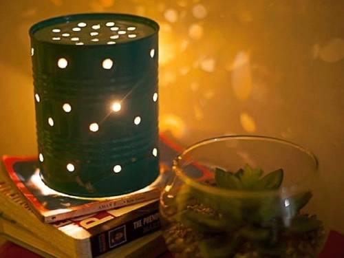 Cómo hacer una lámpara con una lata reciclada