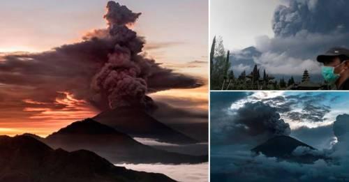 """Emergencia: alerta máxima y 100 mil evacuados ante la """"erupción inminente"""" d.."""