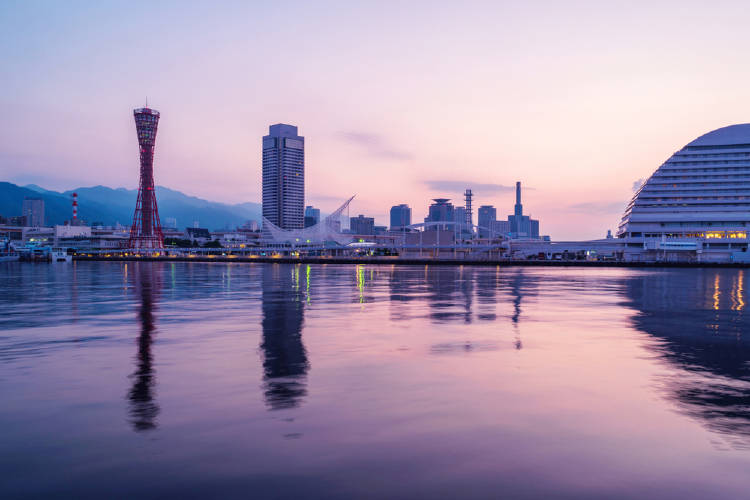 vista de la ciudad de kobe en japon