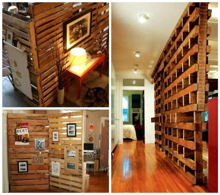15 ideas creativas para separar habitaciones for Muro de separacion jardin