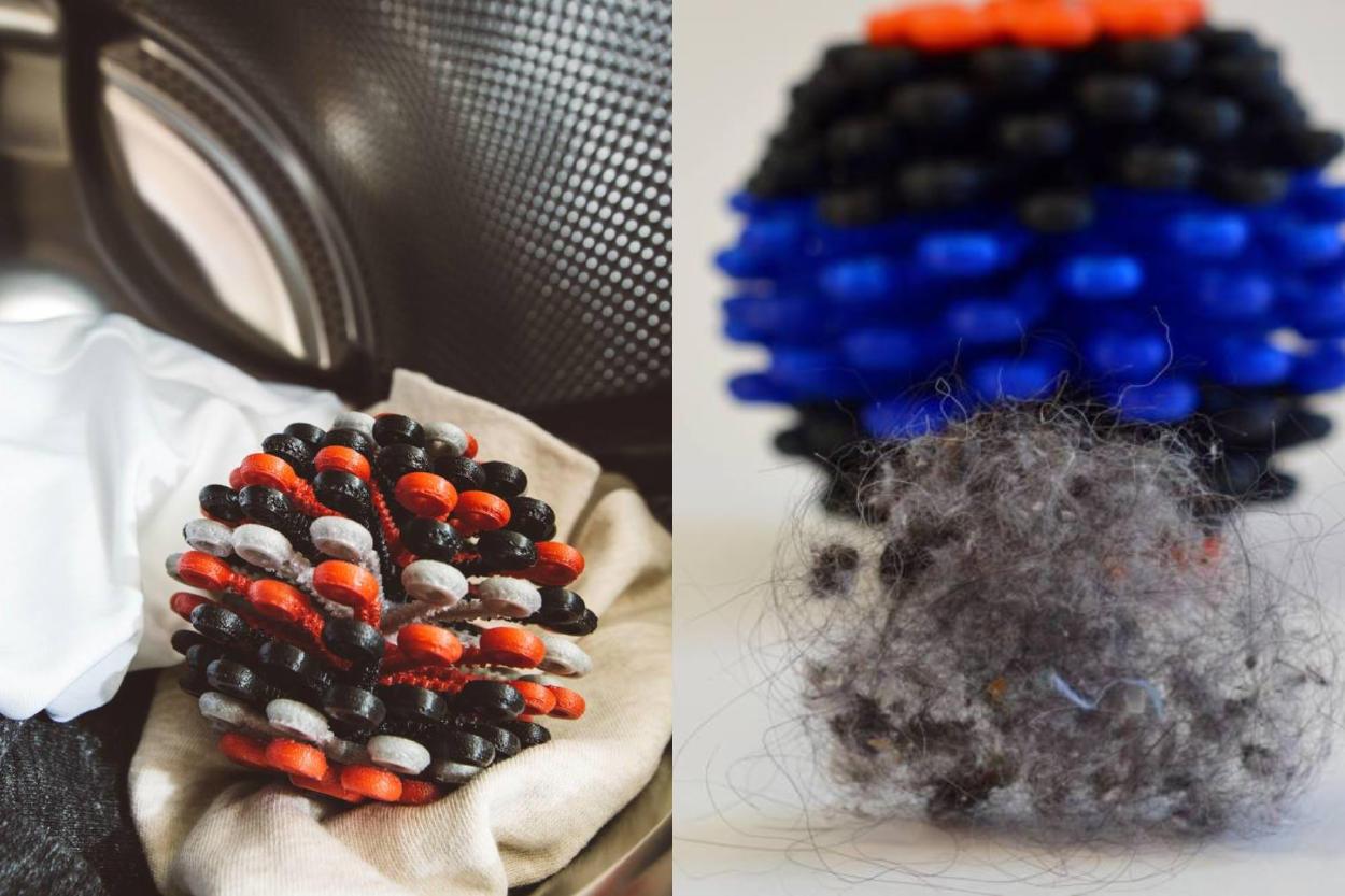 Mujer crea un producto que atrapa microfibras de la lavadora para que no lleguen al océano