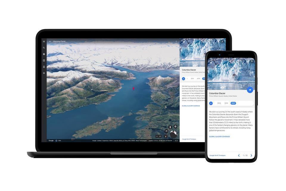 Esta nueva herramienta de Google Earth muestra décadas de cambio climático en segundos