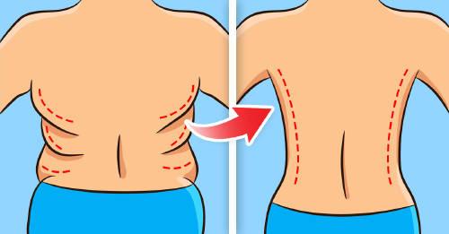 como quitar los rollitos de grasa de la espalda