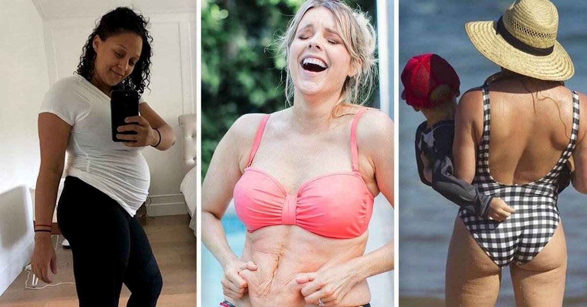 8 famosas que demostraron que no tienes que avergonzarte de tu cuerpo cuando das a luz