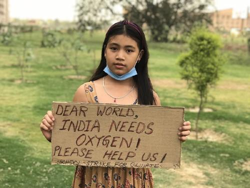 """""""La Greta de la India"""": con 9 años gastó sus ahorros para luchar contra el Covid"""