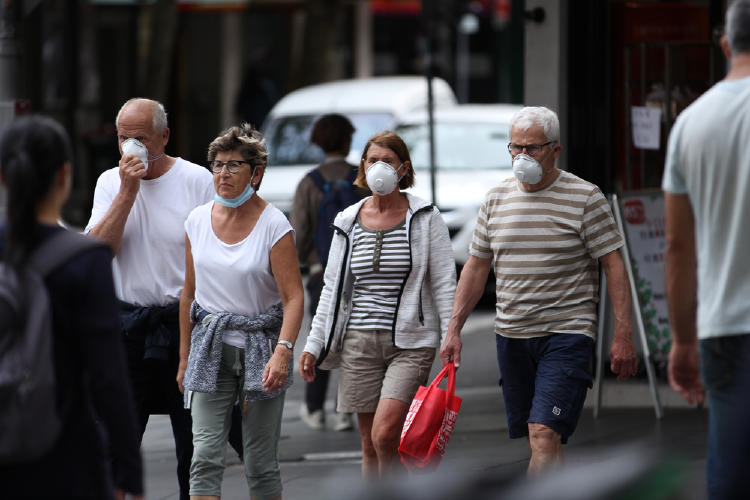 barbijo calle australia coronavirus