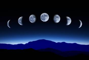 Las distintas fases de la luna