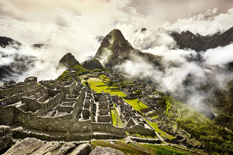 Vista aérea del Machu Picchu