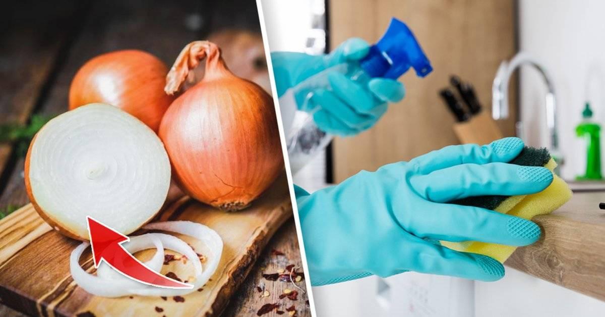 6 trucos insólitos para limpiar tu hogar con... cebolla
