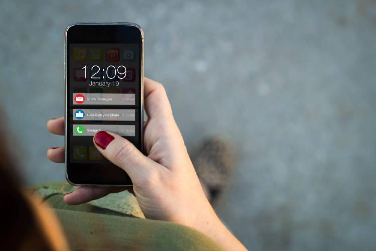telefono smartphone notificaciones