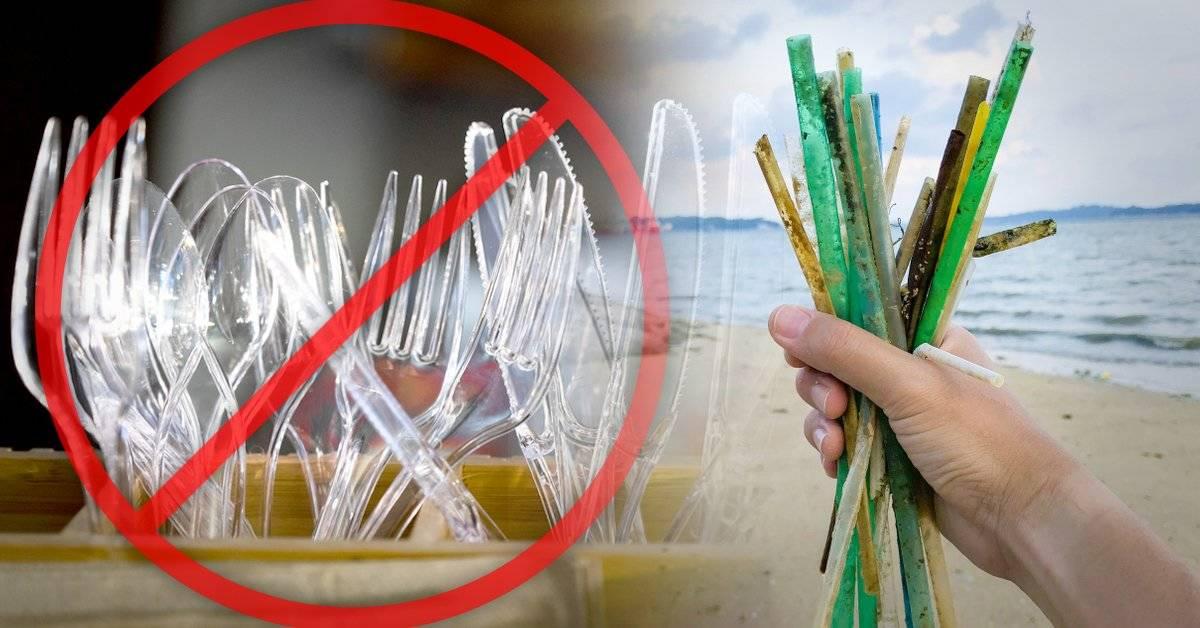 En Europa será ilegal vender pajitas, bastoncillos y cubiertos de plástico