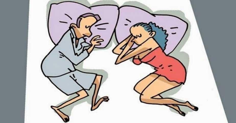 dormir en pareja enfrentados